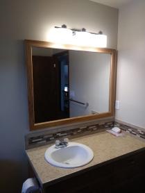 Install cabinet ,mirror
